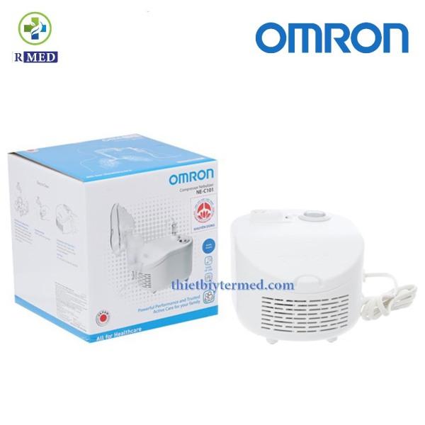 OMRON Ne-C101 - Máy xông khí dung  thế hệ mới thông mũi họng cho người lớn và trẻ em- Bảo hành 2 năm chính hãng