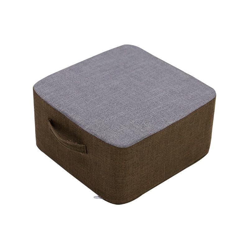 Flax Washable Padded throw pillow Fabric Futon Cotton Linen Bay Window Tatami Extra High Padded throw pillow Floor Stool