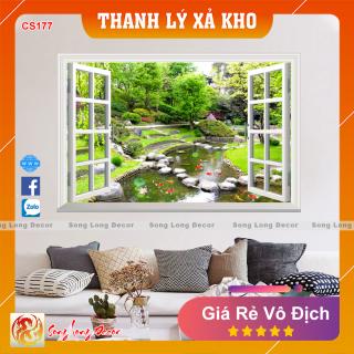 Tranh dán tường 3d Cửa Sổ - CS177 - Tranh 3D Cảnh đẹp thiên nhiên - Giấy dán tường 3d - Song Long Decor thumbnail