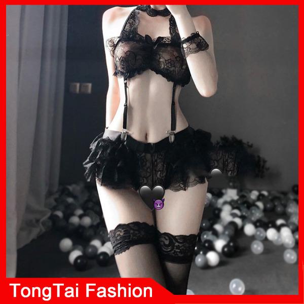 Rỗng sexy độc quyền cô gái mở tệp ren phối cảnh đồ ngủ sexy set miễn phí quần lót treo đồ lót ren jumpsuit tai thỏ treo đồ lót sexy đồ lót sexy TongTai