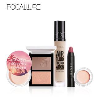 Bộ 5 sản phẩm trang điểm gồm kem nền + kem che khuyết điểm + phấn phủ + son môi + hộp phấn tạo khối và bắt sáng thích hợp làm quà tặng dành cho phái nữ - INTL thumbnail