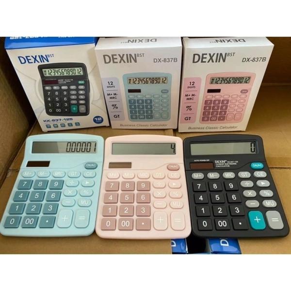 Máy tính Cầm Tay Dexin DX-837B Dùng Năng lượng mặt trời hoặc Pin