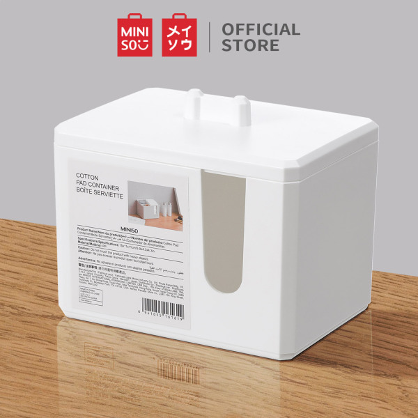 Hộp đựng bông tẩy trang Miniso Cotton Pad Container