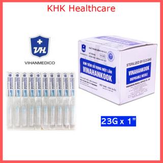 Kim tiêm 23G x 1 Vinahankook (đầu kim 23G) vô trùng hộp 100 kim sản xuất tại Việt Nam thumbnail