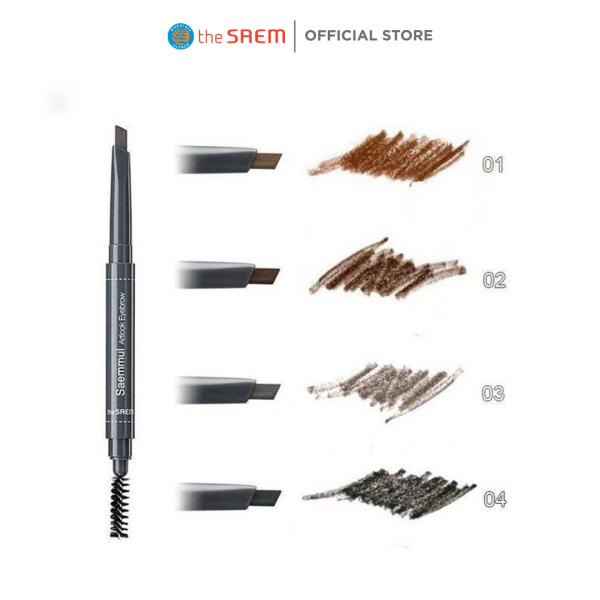 Chì Kẻ Mày Ngang 2 Đầu The Saem Saemmul Artlook Eyebrow (0.2g) giá rẻ