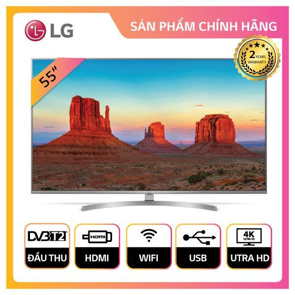 Smart TV LG 55inch 4K Ultra HD - Model 55UK7500PTA (Bạc) - Hãng phân phối chính thức