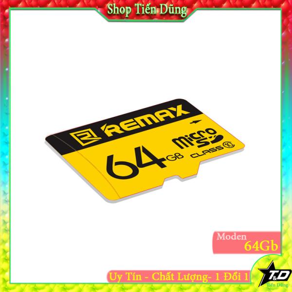 Thẻ nhớ micro SD remax 64Gb class10 dùng được cho camera, máy ảnh, lao , đài và nhiều cái khác
