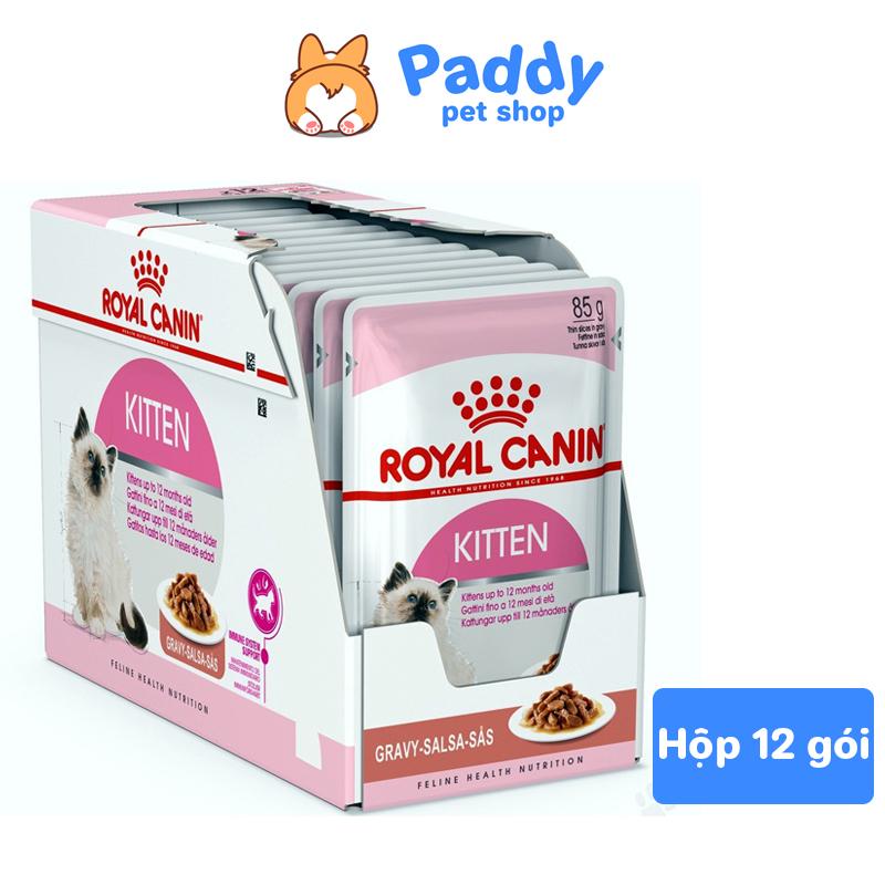 [Hộp 12 Gói] Pate Cho Mèo Con Royal Canin Kitten Gravy Dạng Sốt Túi 85g