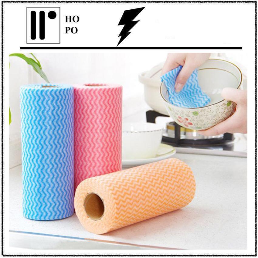 [ GIẢM GIÁ SÂU ] Cuộn Giấy Vải Lau Đa Năng - Vải Không Dệt ( 50 Tờ/Cuộn) - Màu Ngẫu Nhiên Nhật Bản