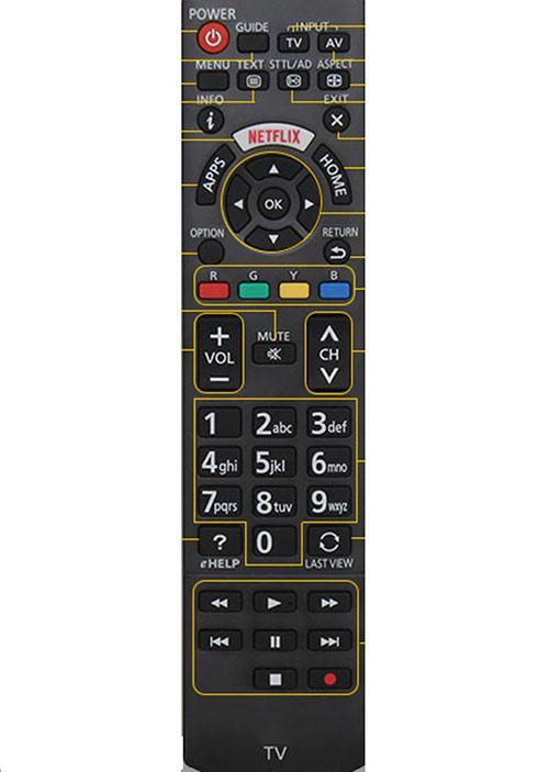 Bảng giá Điều khiển tivi panasonic internet smart (đen)