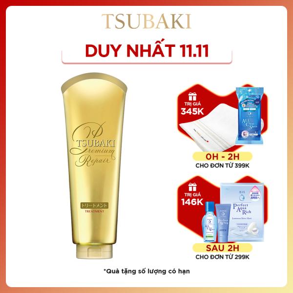 Kem xả phục hồi ngăn rụng tóc Tsubaki premium repair treatment 180g nhập khẩu