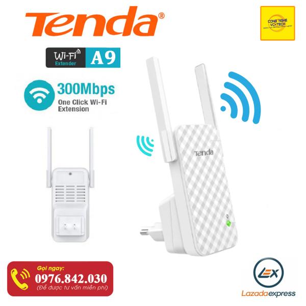 Bảng giá Bộ Kích Sóng Wifi Repeater 300Mbps Tenda A9 | Hàng chính hãng bảo hành 12 tháng Phong Vũ