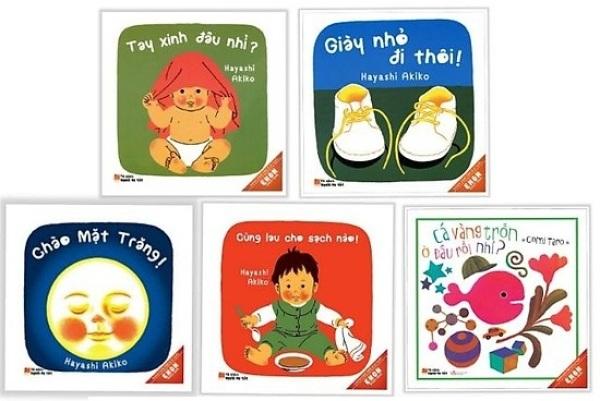 Mua Sách Ehon Cho Bé - Từ 0 đến 3 tuổi - Combo 5 cuốn ( Cá vàng, Cùng lau, Giày Nhỏ, Tay Xinh, Chào mặt trăng)