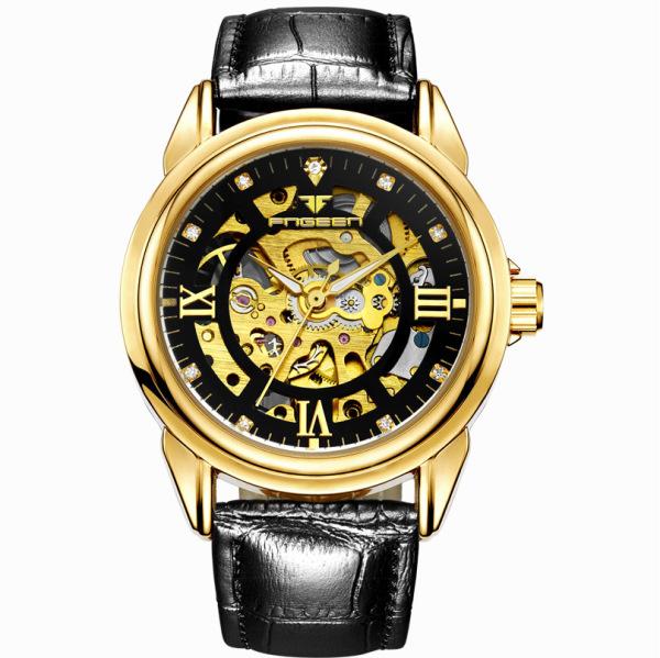 Đồng hồ thời trang nam dây da tự động lên dây cót Đồng hồ nam dây da chính hãng chất lượng cao giá rẻ bán chạy