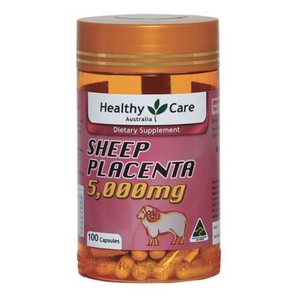 VIÊN UỐNG NHAU THAI CỪU HEALTHY CARE SHEEP PLACENTA 5000MG 100 viên Úc nhập khẩu