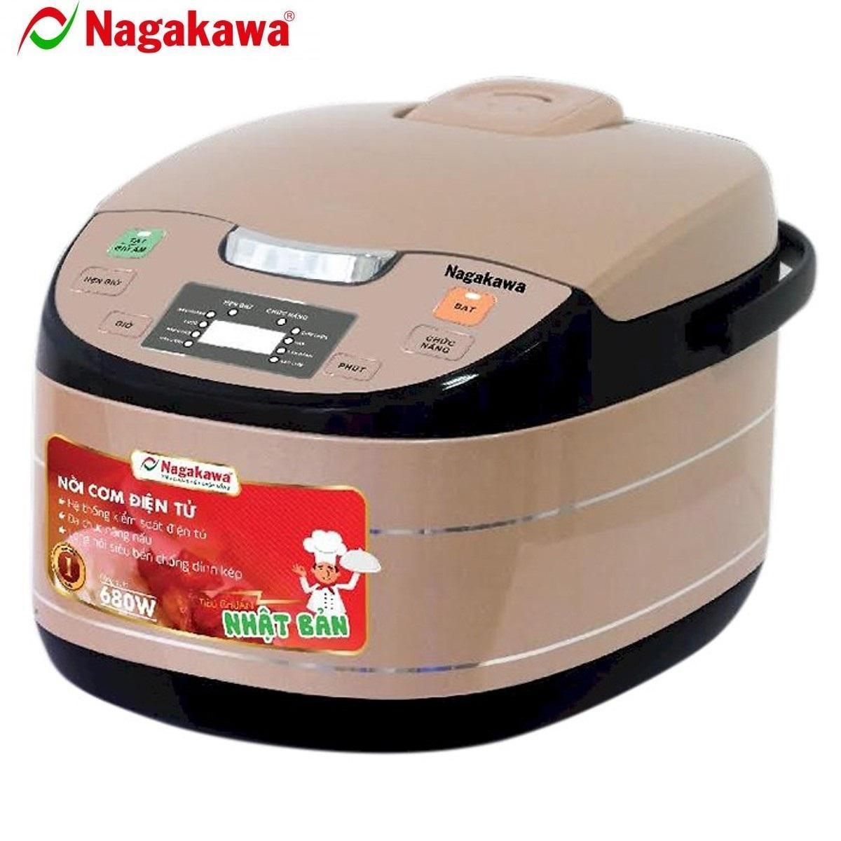 Nồi Cơm Điện Tử Nagakawa NAG0103 (1.8 Lít) - Nâu