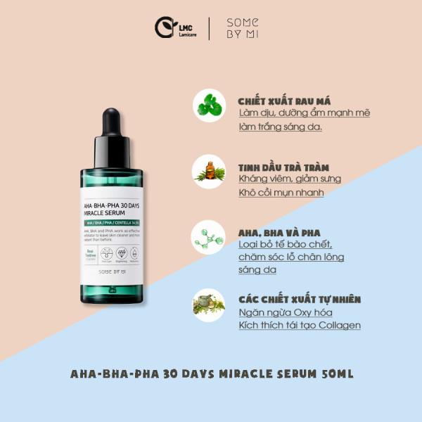 Tinh chất giảm mụn, điều tiết bã nhờn Some by mi AHA BHA PHA 30 days miracle serum 50ml giá rẻ