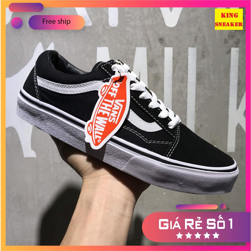 [FULL BOX] Giày Vans-Old Skool Nam Nữ Hàng Cao Cấp Mũi Nỉ Gót Nỉ - Giày thể thao Unisex cùng form giày Converse bảo hành 12 tháng lỗi 1 đổi 1 đi không vừa được đổi size