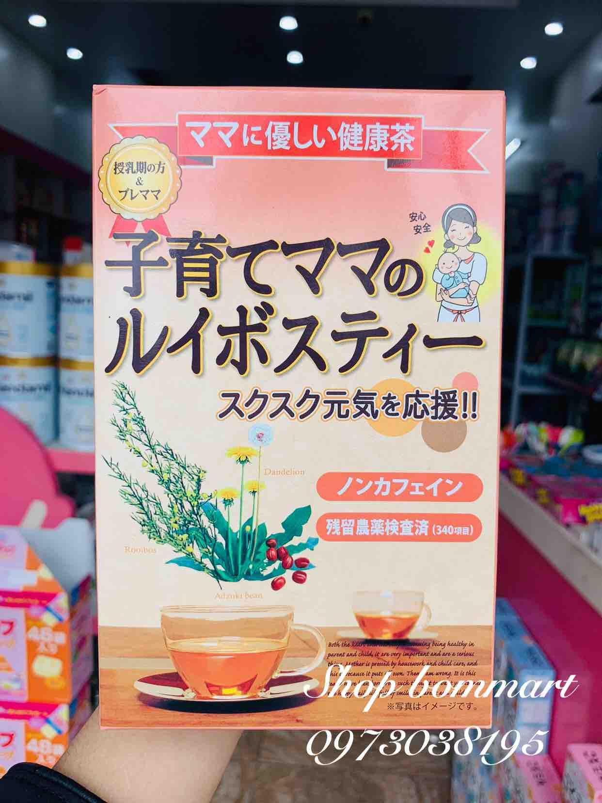 Hồng trà lợi sữa nhật bản showaseiyaku hộp 24 gói nhập khẩu