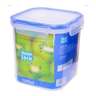 [M][HÀNG XỊN - BAO DÀY] Hộp nhựa đực thực phẩm nắp gài Happi Lock 1200ml bao bền chắc đẹp - nắp gài kín giữ thức ăn cao cấp thumbnail