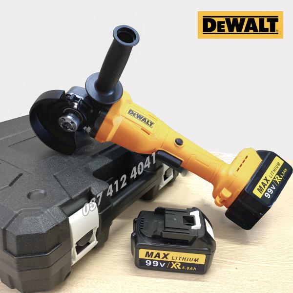 Máy mài pin DEWALT không chổi than - Máy cắt sắt dùng Pin Dewatl 99V - 2 PIN 10 CELL - MÁY MÀI PIN ATADAT