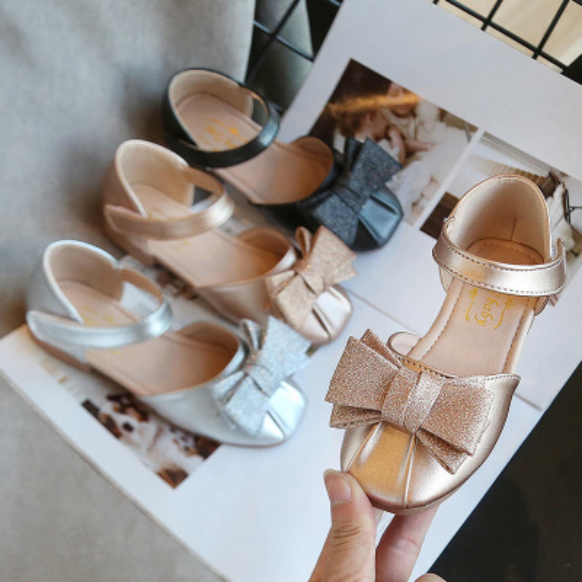 Giá bán Giày búp bê đính nơ siêu xinh cho bé gái. M139