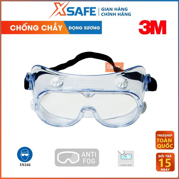 Giá bán Kính chống hóa chất 3M 334AF Kính bảo hộ chống hóa chất, chống bụi, chống văng bắn, va đập, kính phòng dịch an toàn cho người dùng 3M - Sản phẩm chính hãng XSAFE