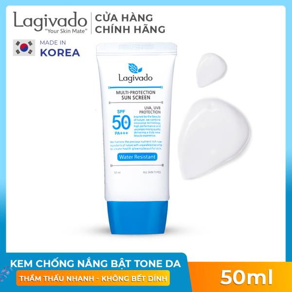 Kem chống nắng dưỡng trắng giúp bảo vệ da dành cho da bóng dầu, dễ nổi mụn, đi bơi, đi biển Hàn Quốc Lagivado Water Resistant 50 gram