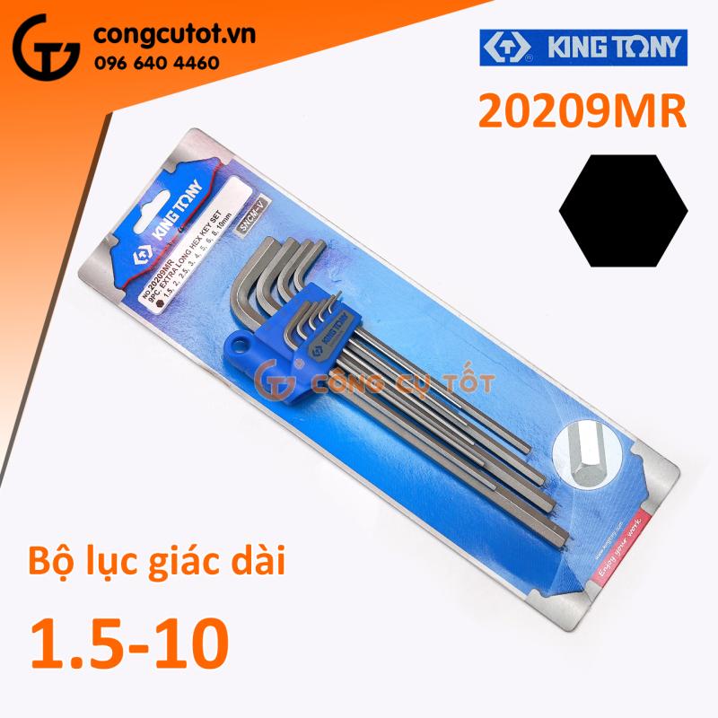 Bộ lục giác dài 9 cây hệ mét Kingtony 20209MR 1.5-10mm