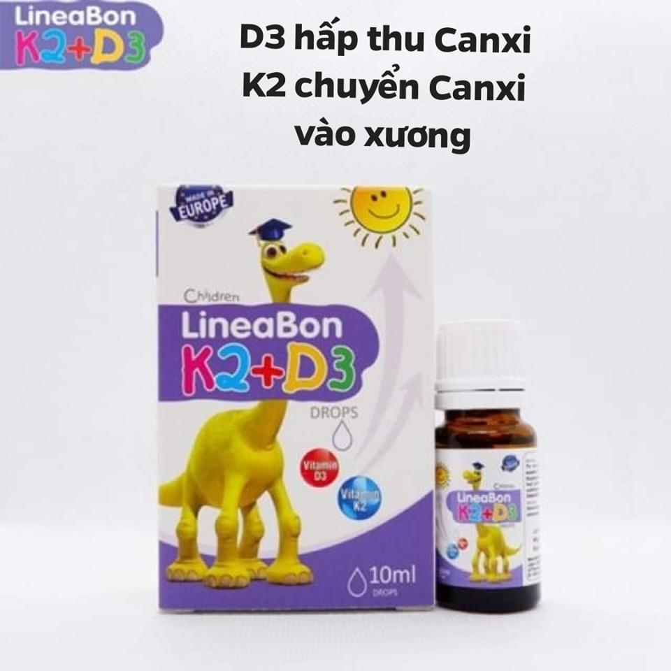 Vitamin Lineabon K2+D3- Hỗ trợ phát triển chiều cao, giúp chống còi xương