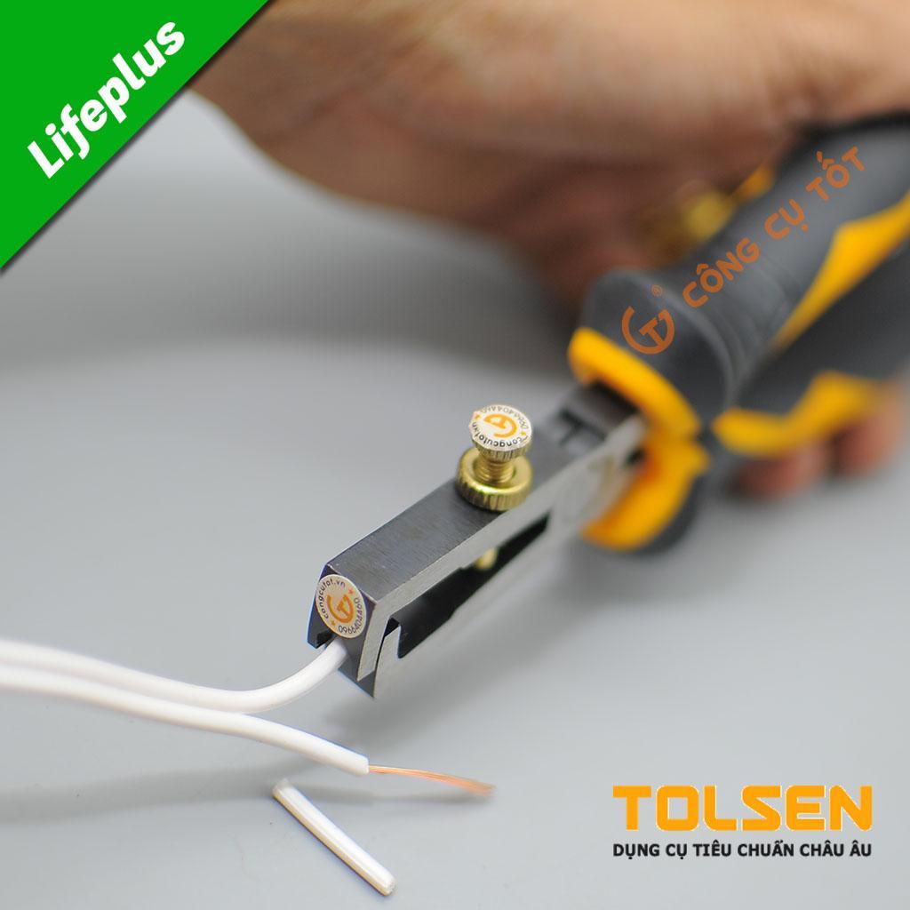 Kìm tuốt dây điện công nghiệp 6 Tolsen 10028