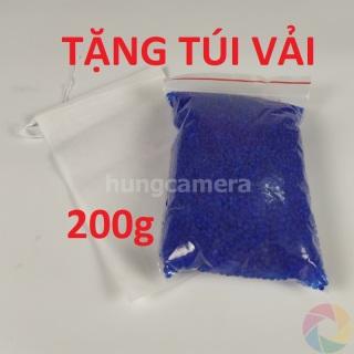 Gói 200g - Hạt hút ẩm, chống ẩm cho máy ảnh, chỉ thị màu xanh thumbnail