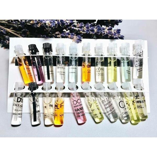 [2ml]  Test Nước hoa  Pháp - 20 mùi lựa chọn