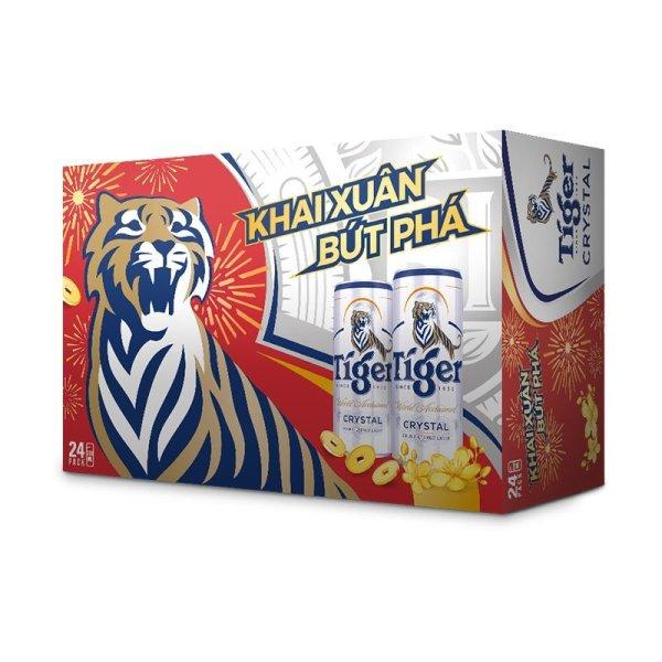 Thùng 24 lon tiger crystal 330ml