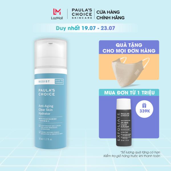 Kem dưỡng ẩm làm sáng da và chống lão hóa Paula's Choice Resit Anti-Aging Clear Skin Hydrator 50ml 7691 giá rẻ