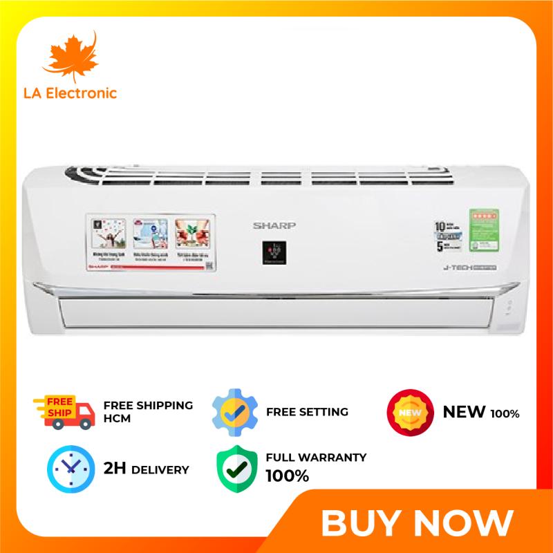 Trả Góp 0% - Máy lạnh Sharp Wifi Inverter 1 HP AH-XP10WHW - Bảo hành 12 tháng - Miễn phí vận chuyển HCM
