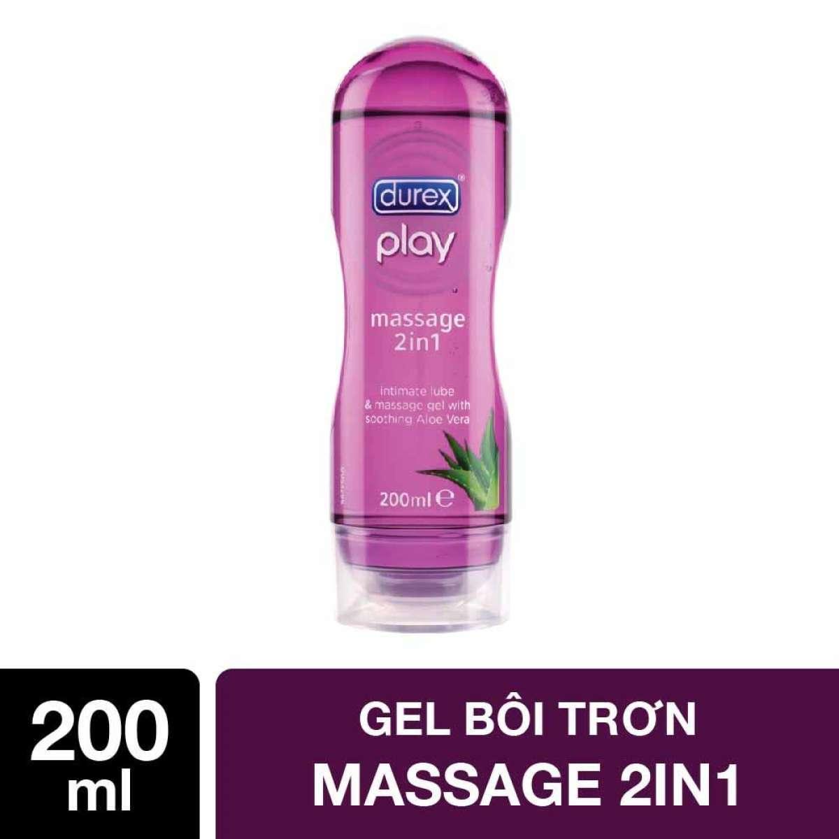Gel bôi trơn Durex Play Massage 2in1( 200ml)