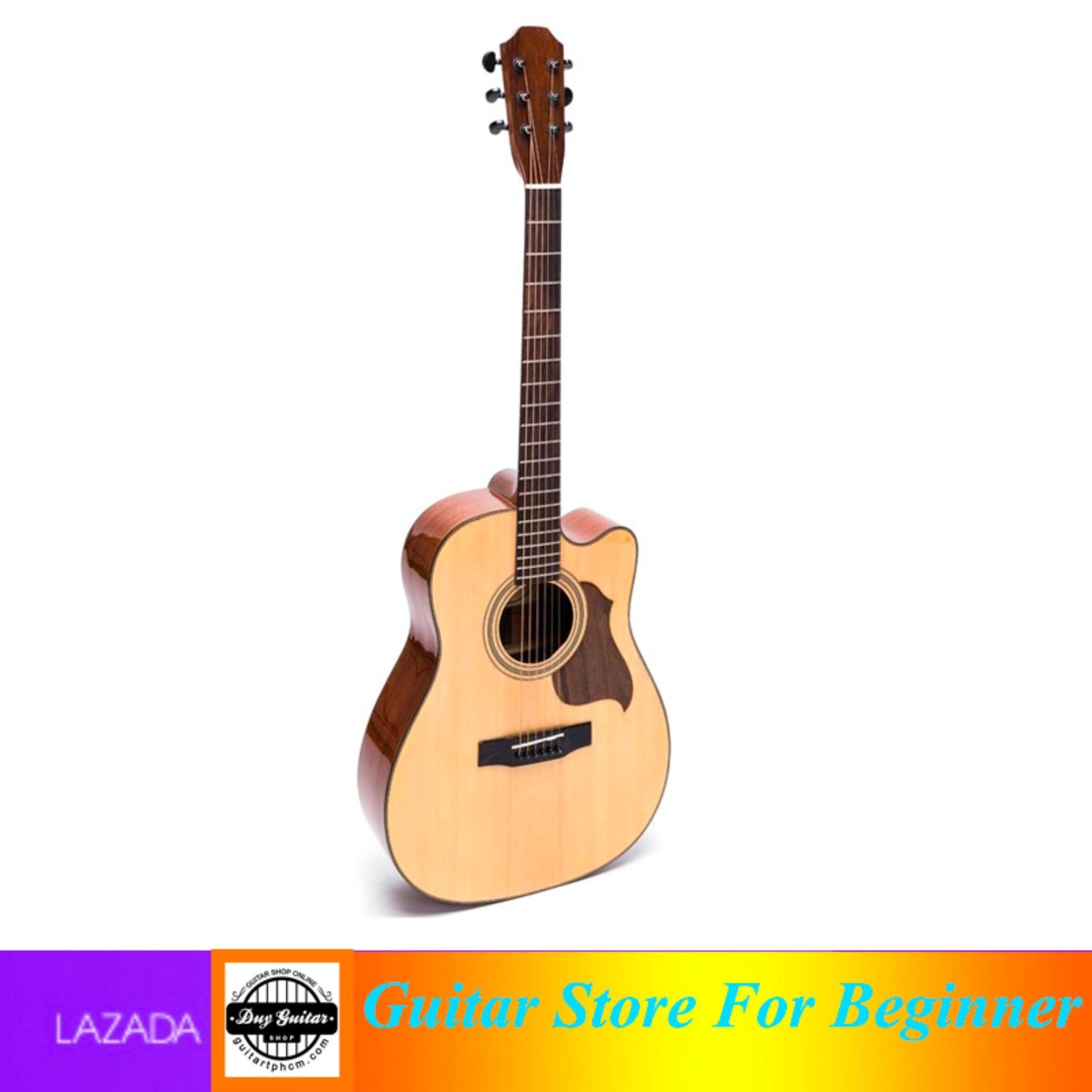 Đàn guitar Acoustic DMT350 - Duy Guitar Shop chuyên đàn guitar dành cho người mới tập