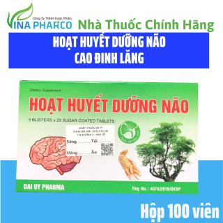 Hoạt Huyết Dưỡng Não Cao Đinh Lăng- Hộp 100 viên thumbnail