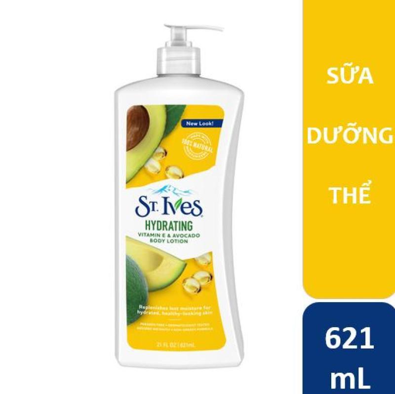 Sữa dưỡng thể St.Ives Vitamin E và Bơ 621ml nhập khẩu