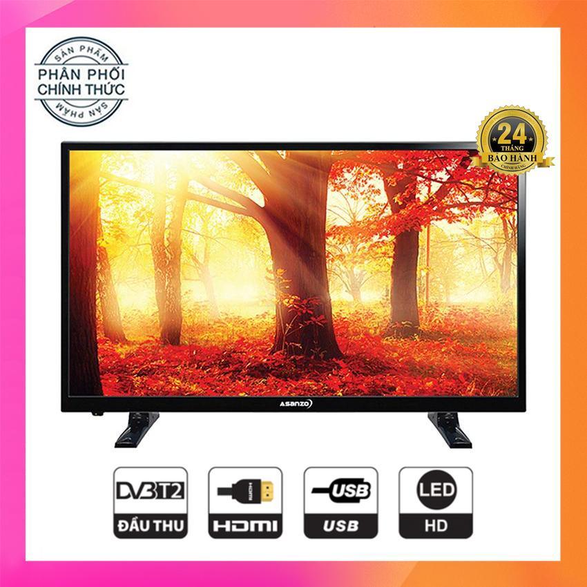 Tivi Led Asanzo 25 inch HD - Model 25T350 (Đen) Tích hợp DVB-T2