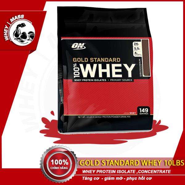 Sữa Tăng Cơ Bắp ON Optimum Nutrition Gold Stardard 100% Whey 10 Lbs (4.6kg) nhập khẩu