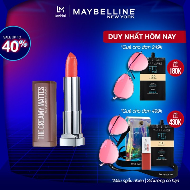 Son Lì Mịn Môi Dưỡng Môi Maybelline New York Color Sensational Creamy Matte 3.9g