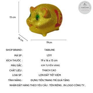 Lợn đất tiết kiệm đựng tiền size NHỠ VIP KIM TUYẾN VÀNG cute đẹp giá rẻ TABILINE LD11 2