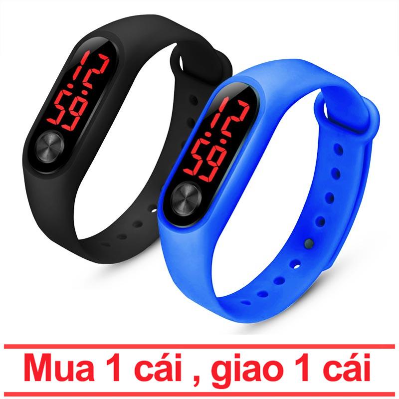 【Mua 1 cái , giao 1 cái】Vòng đeo tay thông minh thời trang Đồng hồ cảm ứng LED / đồng hồ thể thao một nút thông minh chống thấm nước / đồng hồ kỹ thuật số điện tử trẻ em