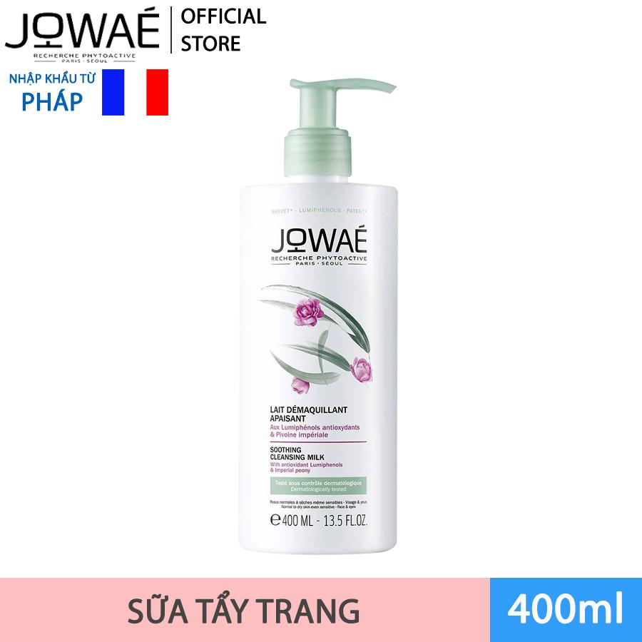 Sữa tẩy trang JOWAE loại bỏ tạp chất và Make up dành cho da nhạy cảm Mỹ phẩm nhập khẩu Pháp SOOTHING CLEANSING MIL 400ml cao cấp