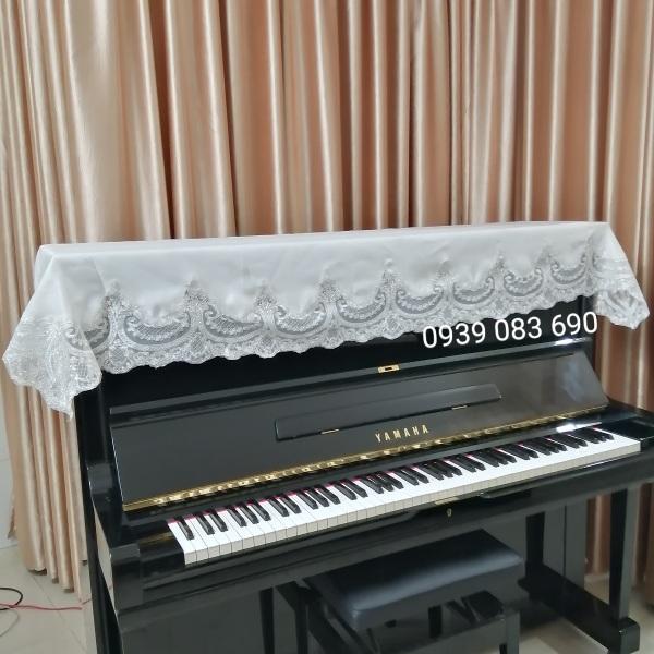 KHĂN PHỦ ĐÀN PIANO REN TRẮNG CAO CẤP, SANG TRỌNG,BỀN ĐẸP