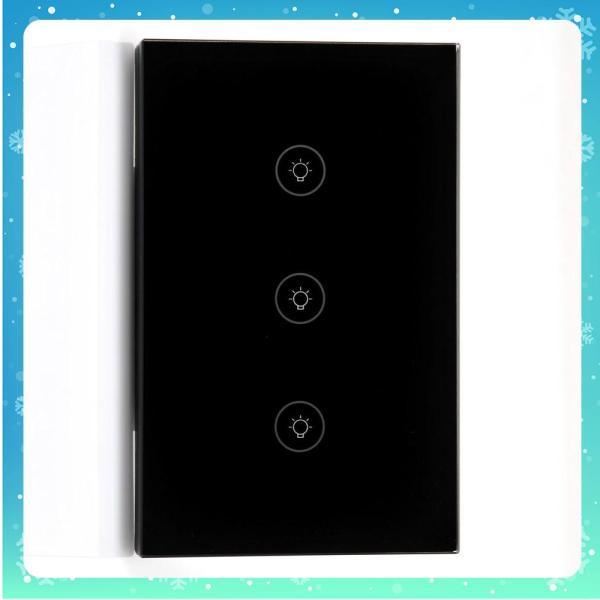 Công Tắc Tuya Wifi Điều Khiển Từ Xa (3 Nút) - Trắng + Đen - Bảo hành 12 tháng (Tùy chọn)