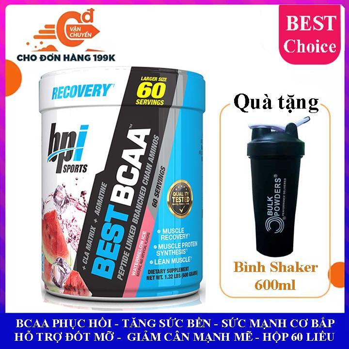 Best BCAA của BPI Sports hương dưa hấu hộp 60 lần dùng hỗ trợ phục hồi cơ bắp, tăng sức bền sức manh, đốt mỡ, giảm cân, giảm mỡ bụng mạnh mẽ cho người tập gym và chơi thể thao nhập khẩu