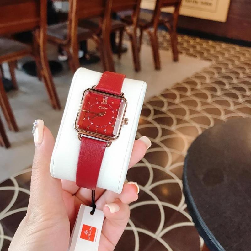 Đồng hồ nữ Julius Hàn Quốc JA-1123 dây da mặt chữ nhật